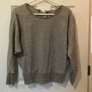 Metallic tan long sleeve top